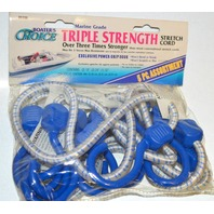 Boater's Choice Triple Strength 5 pk Bungee Cords NEW