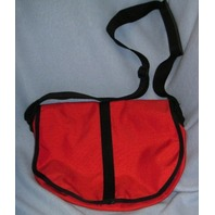 Nylon Saddle Bag - Med - Tomato Red