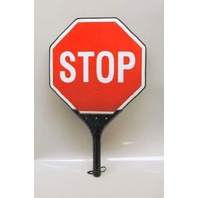 LED Flashing Stop Stop Sign - Hand Held - New