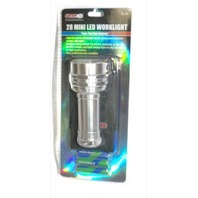 28 Mini LED Worklight #37238 Silver flashlight