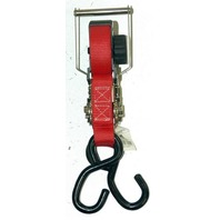 "1"" x 15' Manual Retractable Ratchet Tie Down w/sHooks - New - Boxer."