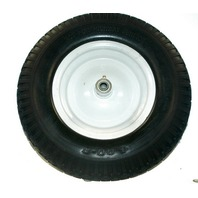 """Wheel barrow Solid Flat Free Tire - 4.00-8 x 5/8"""" ID - 4"""" Hub - New"""