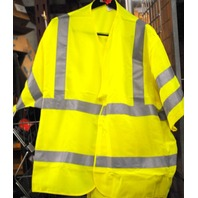 Safety Vest by Red Kap - Size RG-5XL - Class 3 Level 2 - Yellow.