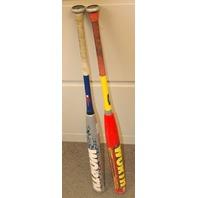 2- Softball Bats Worth Mutant and Worth Team Resmondo Used