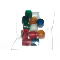 Bag of 12 Indicator Lens Caps - Screw in - New as is.