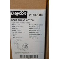 Dayton Electric Motor #6XJ15BE Split Phase-2 speed, 1/3-1/10HP, 115V, 1725-1140 RPM
