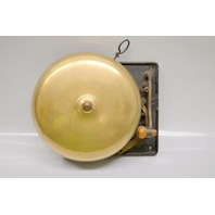 """Vintage 8"""" Ring Side Bell w/cast iron mounting bracket.  Very nice condition."""