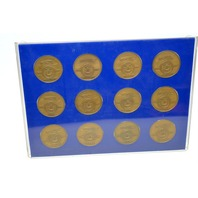 """Salvador Dali - """"Homage to Israel"""" Bronze Coins Limited Edition #747-25th Anniversary Year."""