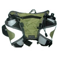 "Sports Dual Water Bottle Waist Belt ""Lake & Trail"" Padded Mesh Holders."