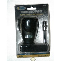 Roadpro TM-2009 5-pin Power Microphone w9 foot super-coil cord Cobra Uniden