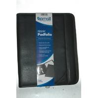 Samsill Professional Padfolio Zippered Closure, Letter Size Writing Pad