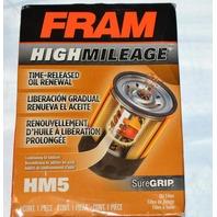 Fram High Mileage, Time-Released Oil Renewal Oil Filter #HM5