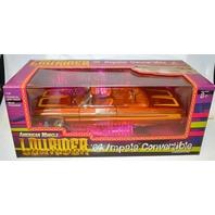 "Ertl Lowrider ""64 Impala Convertible - 1:18 Diecast - Orange, Detailed Interior. Sealed."