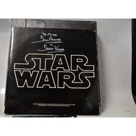 "Star Wars Trilogy ""The DF Laser Disc Box new signed by Darth Vader + SW soundtrack."