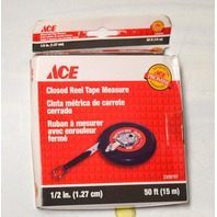 """50' x 1/2"""" Closed Reel Tape Measure by Ace - 2309797"""
