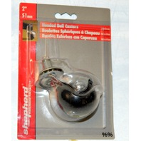 """5 - 2"""" Hooded Ball Caster 7/16"""" x 7/8"""" stem, 80 lb capacity per caster-great for office chair base."""