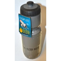 Clear2Go Water Bottle and Filter.- 24 oz Capacity. Grey.