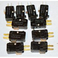 Omron Micro Switch V-5G-1C23-K #1374RA 5A  125-250 VAC - 10 pcs.