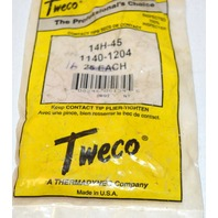 "Tweco Contact Tips Heavy Duty Tip Accomodates 0.045"" wire for welding. 16 pcs."