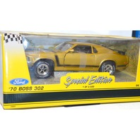 Vintage 1970-BOSS-302-MUSTANG-AZTEC-GOLD-ERTL-1-18-NEW-SPECIAL-EDITION-1-OF-2500