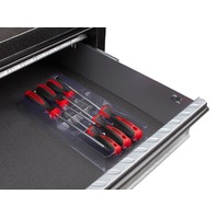 Tekton 2742 6 pc Screwdriver Set w/Storage Rack, Flat and Phillips.