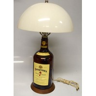 "Vintage Seagrams 7 Table Lamp - Working- 20"" Tall with white plastic lamp shade. Great condition."