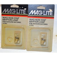 MagLite Mag-Num Star Krypton Lamp for Alkaline Batteries - 5 Cell - 2 packages.