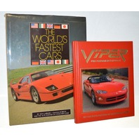 The World's Fastest Cars Book and Viper, pure performance by Dodge Book