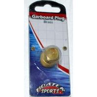 "Brass Garboard Drain Plug 1/2"" NPT, Boat Plug, Boater Sports Brand 54836-Brass"