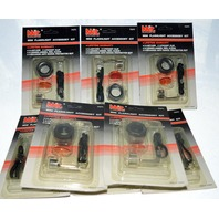 Mini Flashlight Accessory Kits - 8 pcs - MIT #7471,Lanyard, pocket clip, lenses and shock protector head.