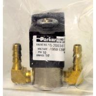 "Parker Fluid Control Valve #15-200341-001  ""B"" - PSI 10 - Orifice 1/8 - 6 W"