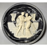 """Incolay Studios Collector Plate """"Hector & Andromache"""" w/Certificat of Original Ownership"""