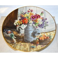 Homespun Beauty Collectable Plate by Glenna Kurz- with papers.