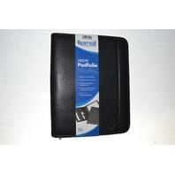 Samsill Professional Padfolio Letter Size Writing Pad Zippered Closure Black New