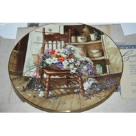 Country Cuttings, Collector Plate by Glenna Kurz, boxed and Certificate of Authenticity