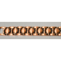"Magnetic Copper Link Braeclet - 8 1/2"" long - 19 strong magnets - Men or Women."
