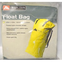 """OZARK TRAIL YELLOW FLOAT BAG WATERPROOF BAG TO KEEP YOUR CAMPING GEAR DRY 25"""" x 43"""""""""""