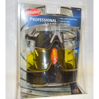 AO Safety 3 in 1 Kit Shooting Glasses, #97106 - Clear, Amber and Gray Lenses.