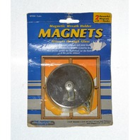 "Magnetic Wreath Holder-attracts through glass, 2 pcs -  2 5/8"" dia x 3/4"" Thickness. #07254."