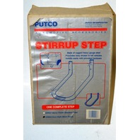 Steel Stirrup Style Black Truck Step, Fits most Pickups, trailers & utility vehicles.