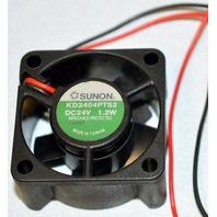 """Sunon 1.2W - 24V DC Fan, 1 1/2"""" square, # KD2404PTS2."""