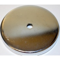 """210 lbs pull Cup Magnet - 4.9"""" Across w. hole in the middle for mounting."""