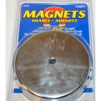 """Round Magnet Lifts upto 95 lbs, 3 3/16"""" Dia x 3/8"""" Thick - #07223"""