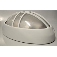 White Cast Aluminum Fluorescent - Oval - Outside wall fixture - 120V 60Hz - E194771