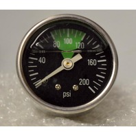 200 Psi Liquid Filled Air Gauge, Black Face Green color from 80 to 120 - Code MK-1