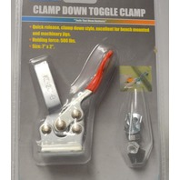 """Grip - Clamp Down Toggle Clamp 7"""" x 2"""" Holding force :500 lbs."""