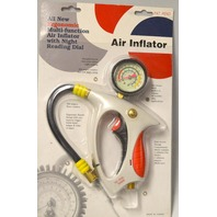 Lematec Ergonomic Multi-function Air Inflator w / Night reading dial. 360* hose rotation
