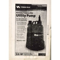 Water Ace Uitlity Pump - Portable/Submersible for light to medium general dewatering