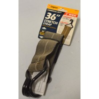 "CargoLoc #32427, 3-2"" x 36"" Flat Strap, coated hooks, max stretch 54"""