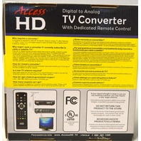 Access HD #DTA1080D, Digital to Analog TV Converter w/dedicated remote control